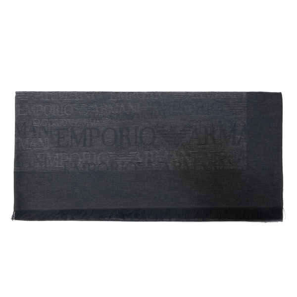 Wool blend stole with logo                                                                                                                            Emporio Armani 625251 back