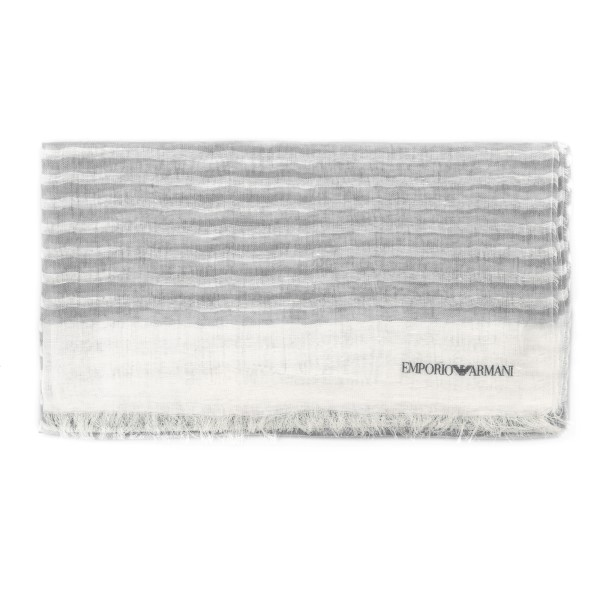 White and grey striped foulard                                                                                                                        Emporio Armani 635228 back