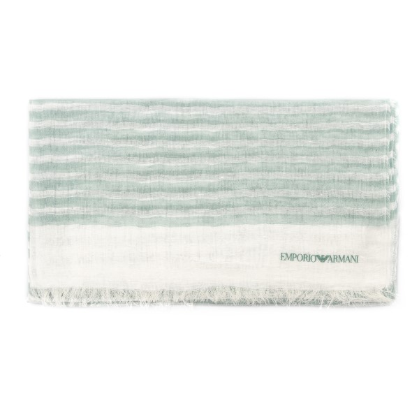 White and green striped foulard                                                                                                                       Emporio Armani 635228 front