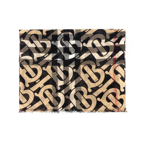 Sciarpa con pattern logo                                                                                                                              Burberry 8033330 retro