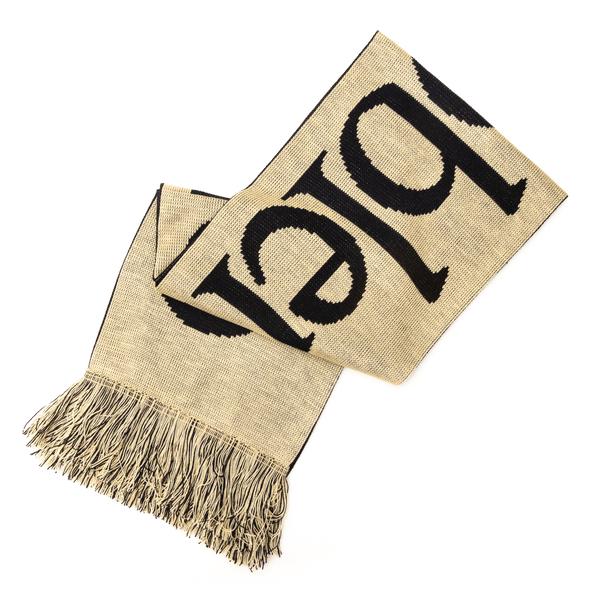 Sciarpa bicolore con scritta                                                                                                                          Aries FSAR90008 retro