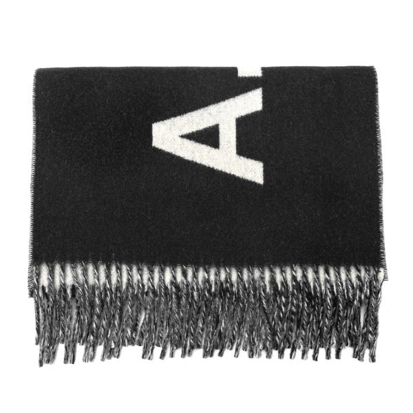 Sciarpa nera con logo                                                                                                                                 A.p.c. M15163 retro