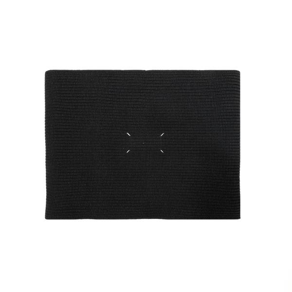 Sciarpa nera con logo                                                                                                                                 Maison Margiela S50TE0082 retro