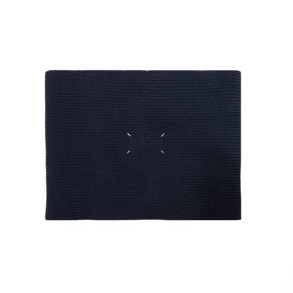 Sciarpa blu con logo                                                                                                                                  Maison Margiela S50TE0082 retro
