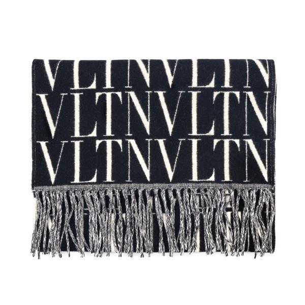 Sciarpa nera con motivo logo                                                                                                                          Valentino Garavani WY2ER033 retro