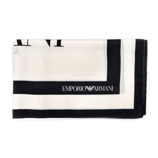 White foulard with black edges                                                                                                                        Emporio Armani 635312 front
