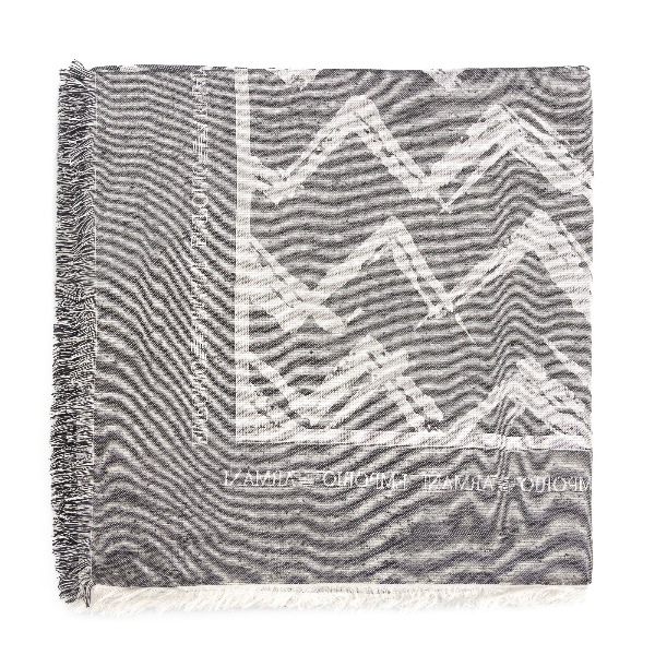 Sciarpa grigia con fantasia geometrica                                                                                                                Emporio Armani 635349 retro