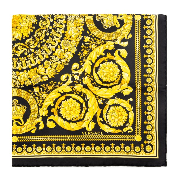 Silk foulard with golden Baroque print                                                                                                                Versace IFO7001 front