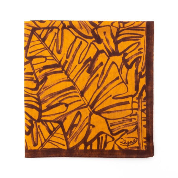 Orange and brown patterned scarf                                                                                                                      Zegna 37A back