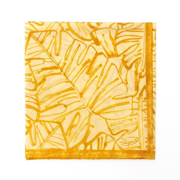 Foulard giallo a fantasia                                                                                                                             Zegna 37A retro