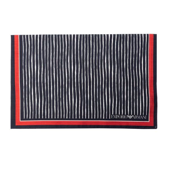 Foulard blu e rosso con pattern                                                                                                                       Emporio Armani 625311 retro