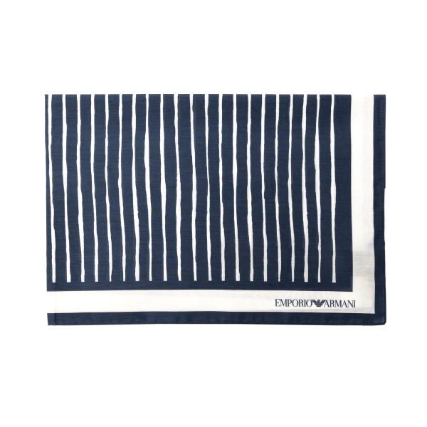 Foulard blu e bianco a righe                                                                                                                          Emporio Armani 625311 retro