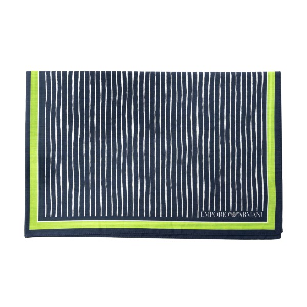 Blue and green scarf with patterns                                                                                                                    Emporio Armani 625311 back