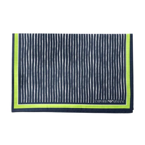 Foulard blu e verde con pattern                                                                                                                       Emporio Armani 625311 retro