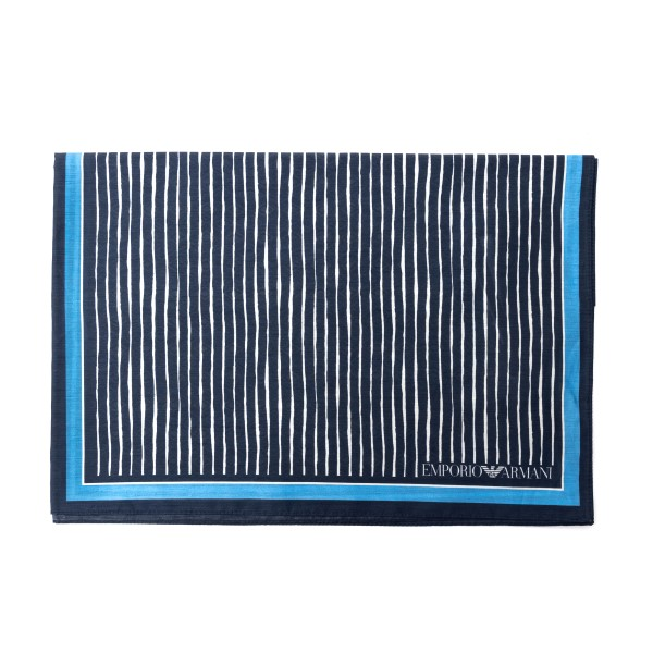 Blue scarf with multiple patterns                                                                                                                     Emporio Armani 625311 back