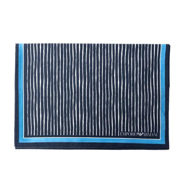 Foulard blu con pattern multipli                                                                                                                      Emporio Armani 625311 retro