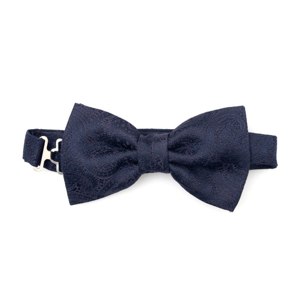 Blue paisley pattern bow tie                                                                                                                          Lubiam 6513 back