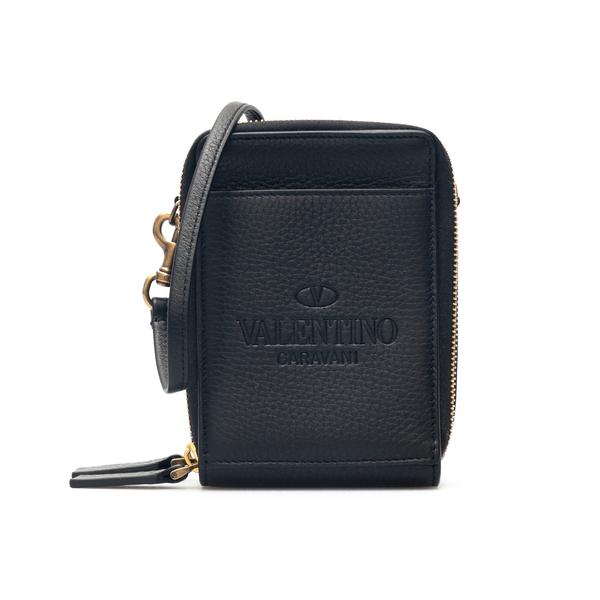 Portafoglio nero con tracolla                                                                                                                         Valentino Garavani WY2P0T21 retro