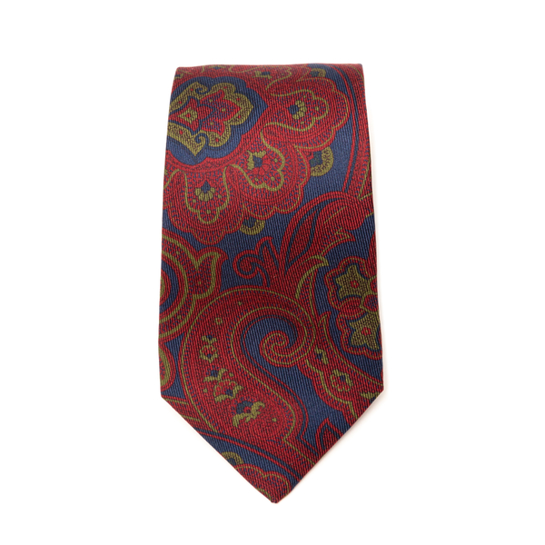 Red tie with paisley print                                                                                                                            Etro 12026 back