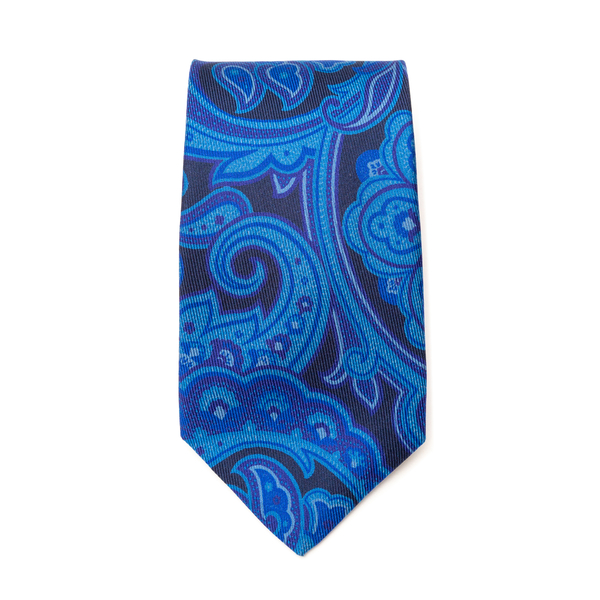 Blue tie with paisley print                                                                                                                           Etro 12026 back