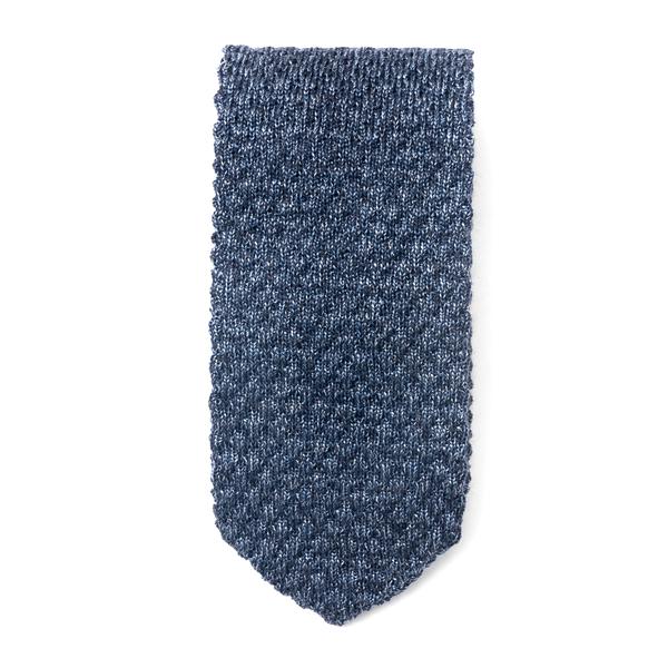 Blue tie with texture                                                                                                                                 Emporio Armani 340027 back