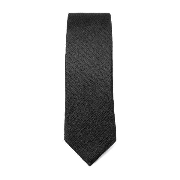 Black tie with crisscross texture                                                                                                                     Emporio Armani 340049 back