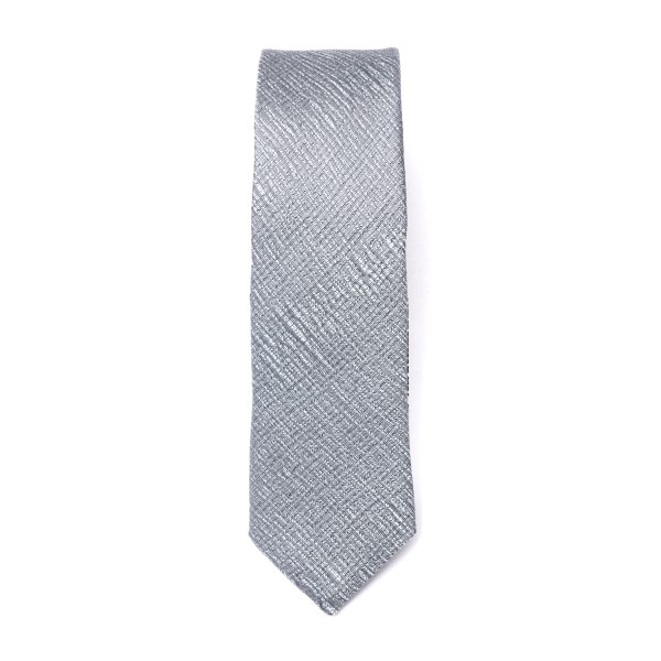 Cravatta argentata con texture incrociata                                                                                                             Emporio Armani 340049 retro