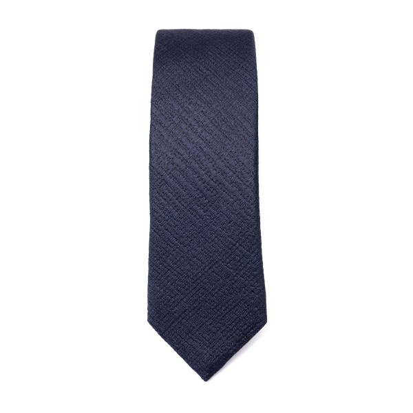 Blue tie with crisscross texture                                                                                                                      Emporio Armani 340049 back