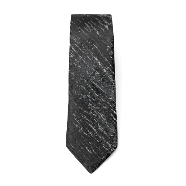 Black tie with scratched effect                                                                                                                       Emporio Armani 340049 back
