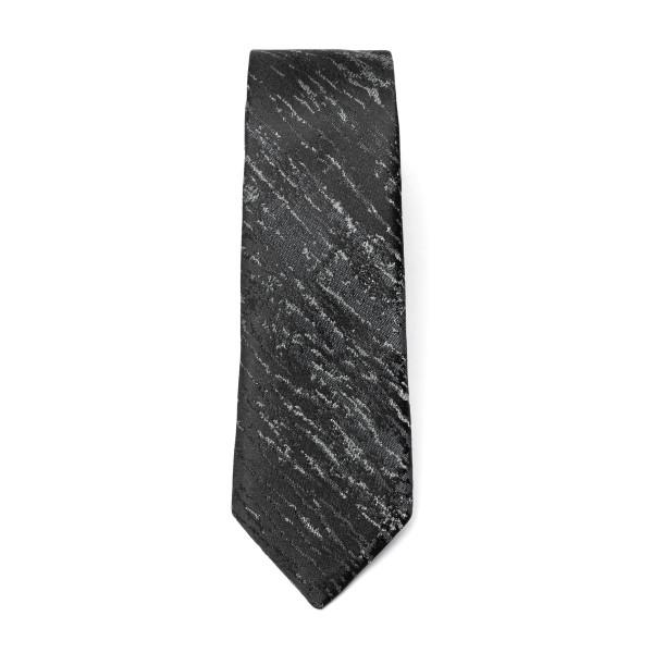 Cravatta nera con effetto graffiato                                                                                                                   Emporio Armani 340049 retro