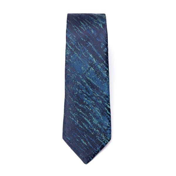 Cravatta blu a effetto graffiato                                                                                                                      Emporio Armani 340049 retro
