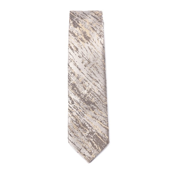Beige tie with scratched texture                                                                                                                      Emporio Armani 340049 back