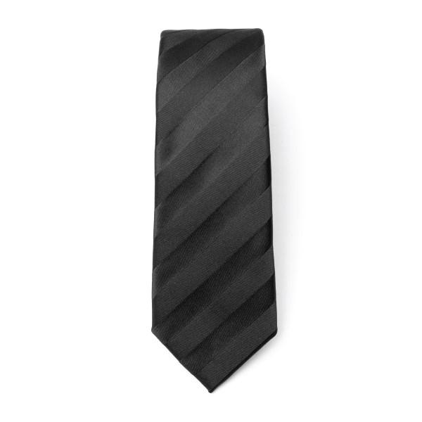 Cravatta nera a righe diagonali                                                                                                                       Emporio Armani 340049 retro