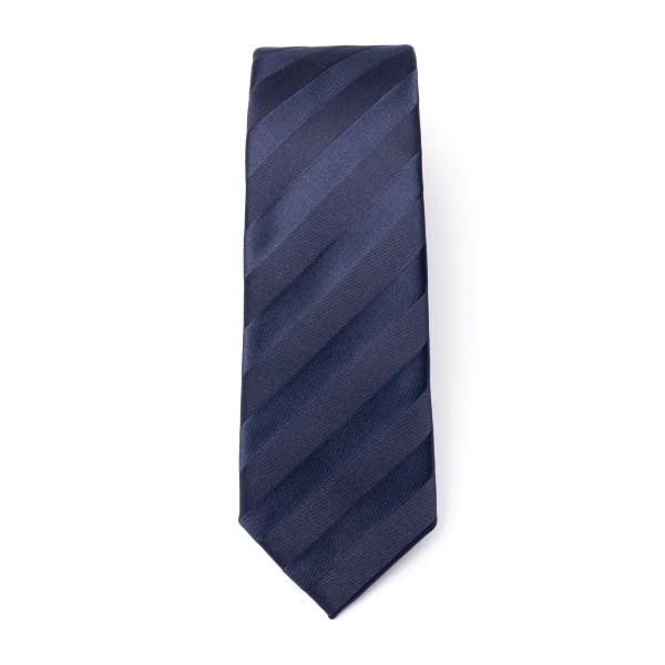 Cravatta blu a righe diagonali                                                                                                                        Emporio Armani 340049 retro