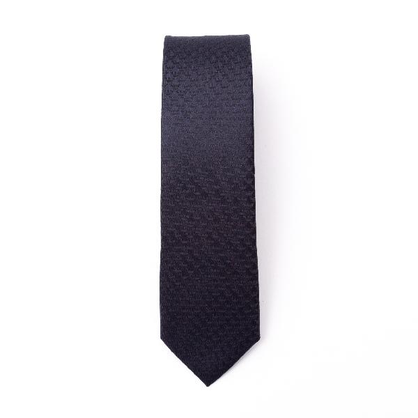 Blue tie with geometric texture                                                                                                                       Emporio Armani 340049 back