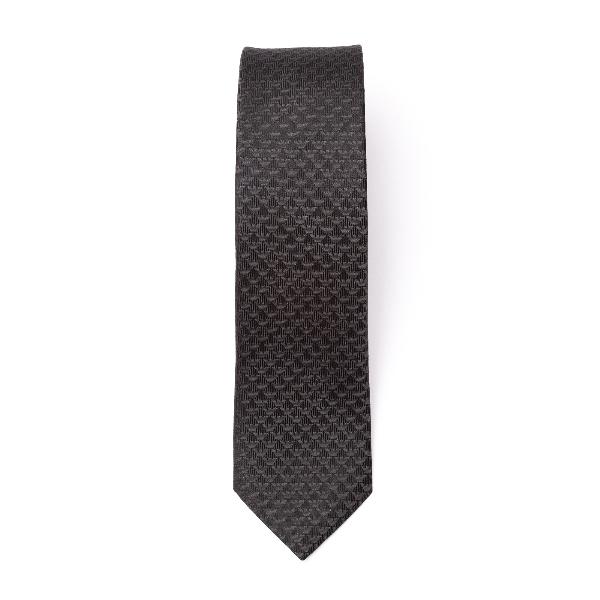 Black tie with logo pattern                                                                                                                           Emporio Armani 340049 back