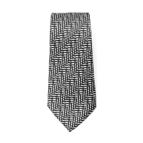 Cravatta nera e bianca a righe                                                                                                                        Emporio Armani 340075 retro