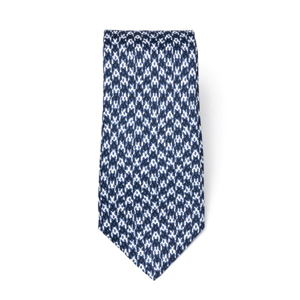 White and blue houndstooth tie                                                                                                                        Emporio Armani 340075 back