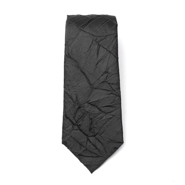 Black tie with wrinkled effect                                                                                                                        Emporio Armani 340075 back