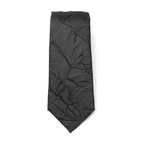 Cravatta nera a effetto stropicciato                                                                                                                  Emporio Armani 340075 retro