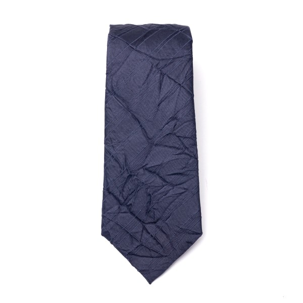 Blue crinkled-effect tie                                                                                                                              Emporio Armani 340075 back