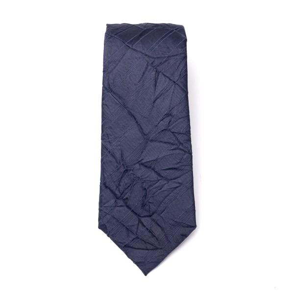 Cravatta blu a effetto stropicciato                                                                                                                   Emporio Armani 340075 retro