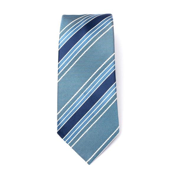 Cravatta blu a righe                                                                                                                                  Emporio Armani 340075 retro