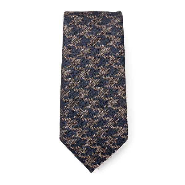 Blue houndstooth tie                                                                                                                                  Emporio Armani 340075 back