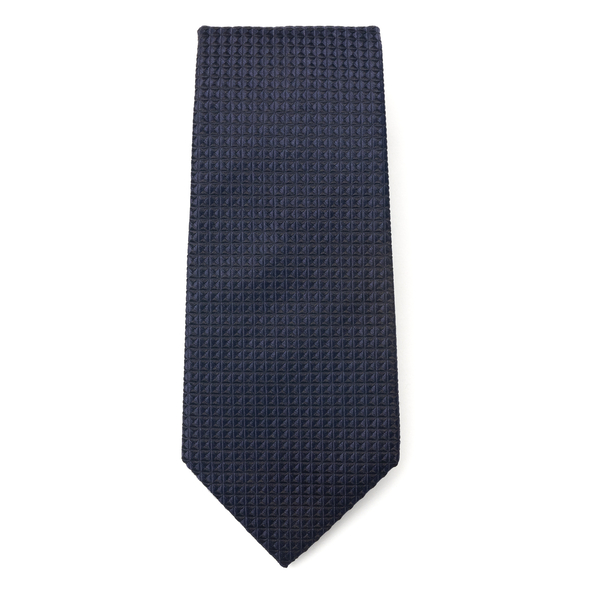 Blue tie with 3D effect pattern                                                                                                                       Emporio Armani 340075 back