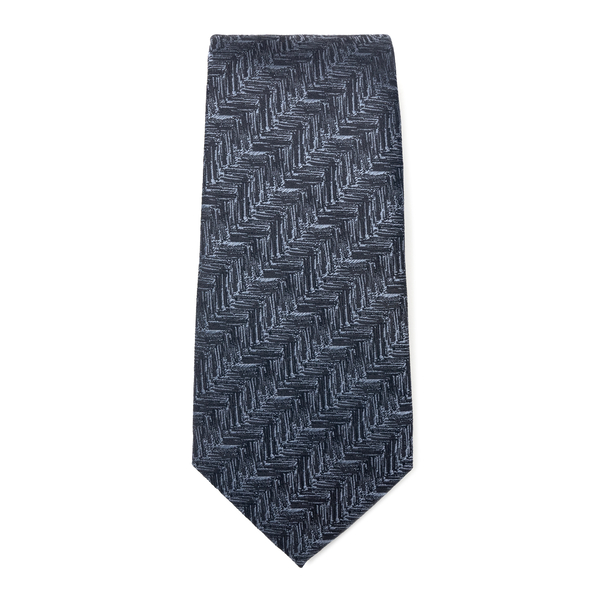 Blue tie with geometric pattern                                                                                                                       Emporio Armani 340075 back