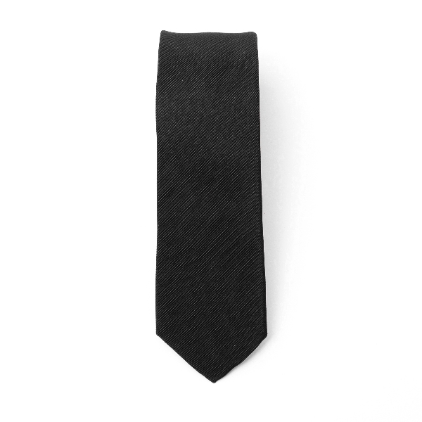 Black tie with striped texture                                                                                                                        Emporio Armani 340249 back