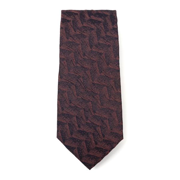Brown tie with geometric pattern                                                                                                                      Emporio Armani 340275 back