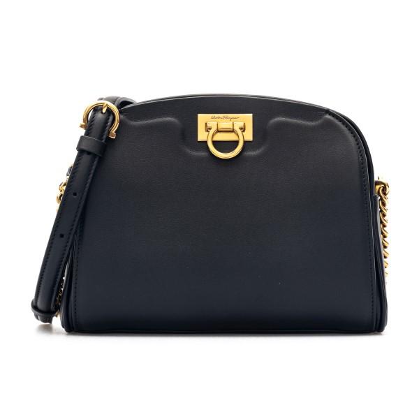 Black shoulder bag with golden detail                                                                                                                 Salvatore Ferragamo 0741187 back