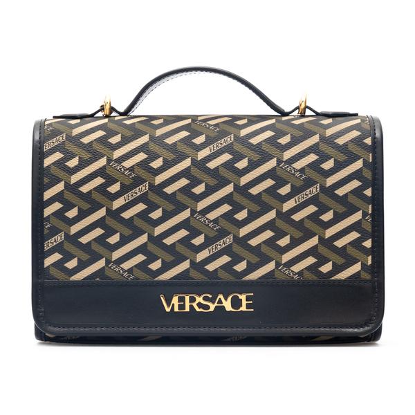 Black shoulder bag with Greca motif                                                                                                                   Versace 1001908 back